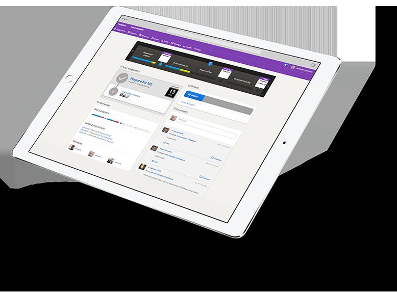 Lerntransferplattform Promote - iPad